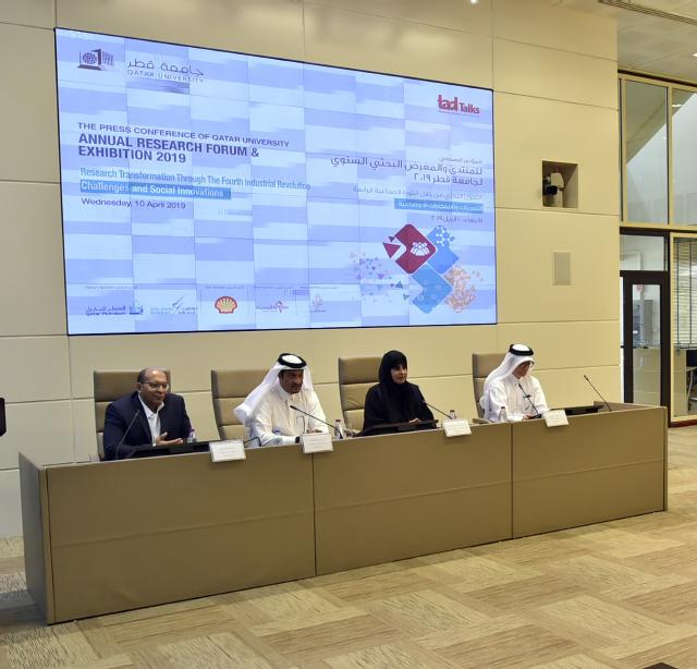 QU hosts press conference to announce the Annual Research Forum & Exhibition 2019 this month