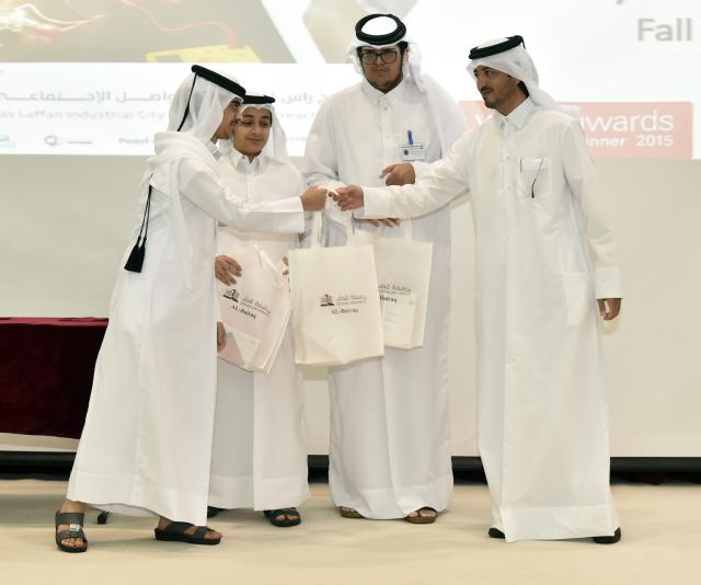 The students who enrolled in this cycle of Al-Bairaq were honored in QU's Ibn Khaldoon Hall