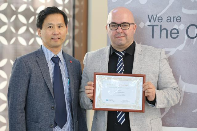 From left to right - Prof Anthony Lai and Dr Michail Nomikos
