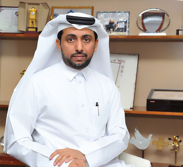 A photo of Dr. Hassan Rashid Al-Derham President of Qatar University