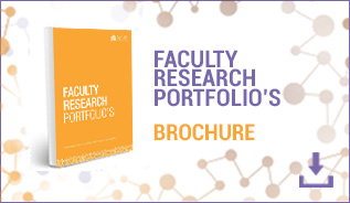 faculty research portfolio's brochure