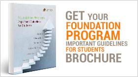 Get your foundation program important guidelines for students brochure