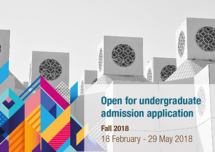 Open fpr undergraduate admission application fall 2018 from 18 February until 29 May 2018