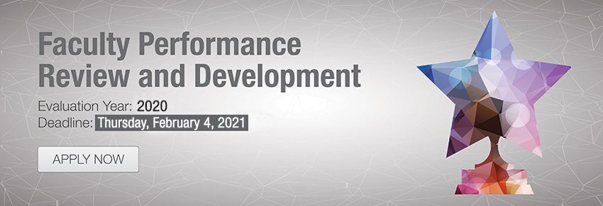 Faculty Performance Review and Development, Click to apply