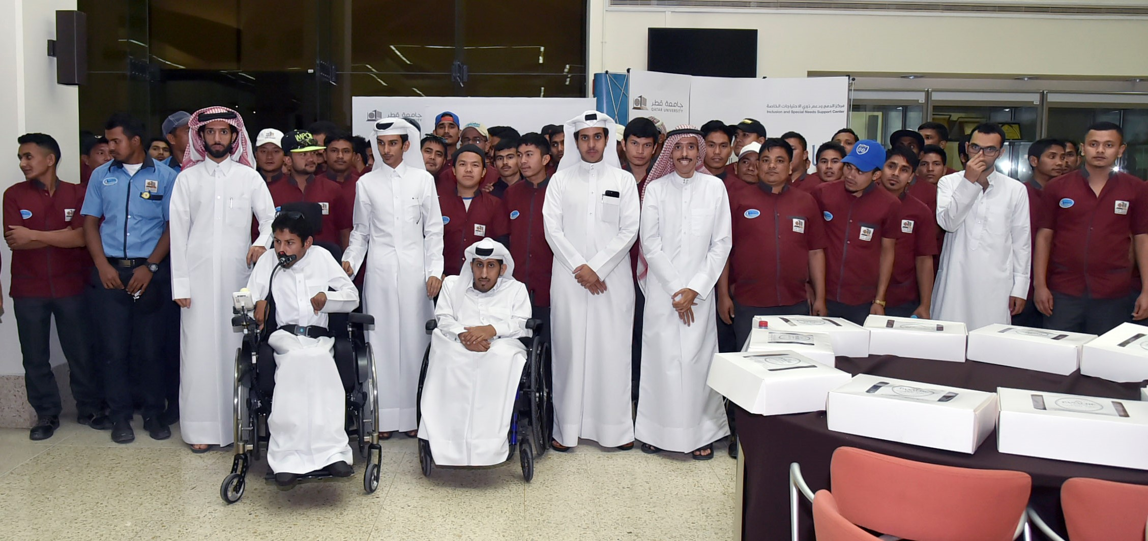 Group photo including participants of Thank You Campaign